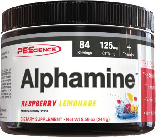 PEScience Alphamine - 84 Servings Raspberry Lemonade