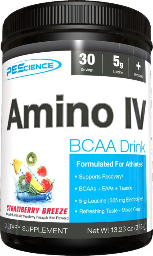 PEScience Amino IV - 30 Servings Strawberry Breeze