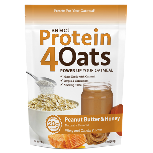 PEScience Select Protein4Oats - 12 Servings Peanut Butter & Honey