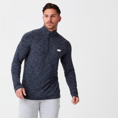 Performance Long Sleeve 1/4 Zip Top - Navy Marl - S