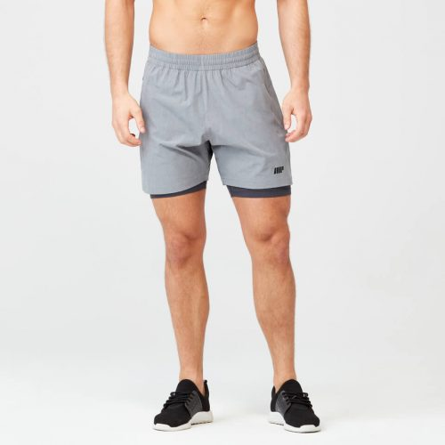 Power Shorts - Grey Marl - M