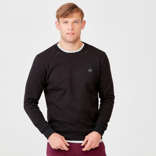 Pro Tech Crew Neck Sweatshirt 2.0 - Black - XS