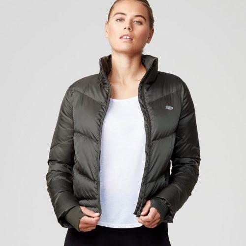 Pro Tech Heavy Weight Puffa Jacket - Dark Khaki - XS