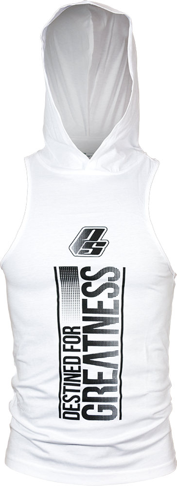 ProSupps Fitness Gear DFG Hoodie Tank - White Medium