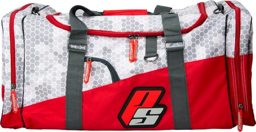 ProSupps Fitness Gear Hex Camo Gym Bag - Grey/Red 1 Bag
