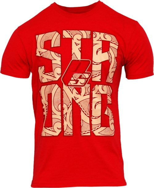 """ProSupps Fitness Gear """"Strong"""" T-Shirt - Red Large"""