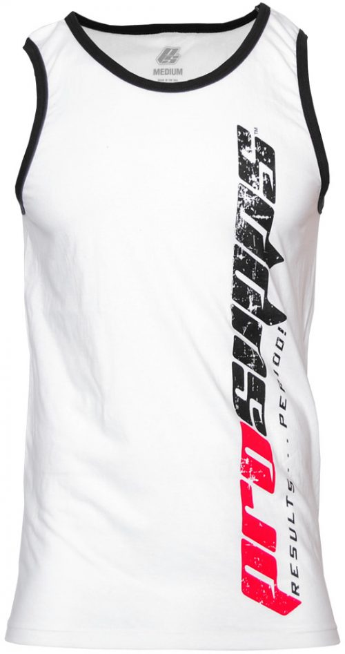 ProSupps Fitness Gear Vertical Tank - White/Black XXL