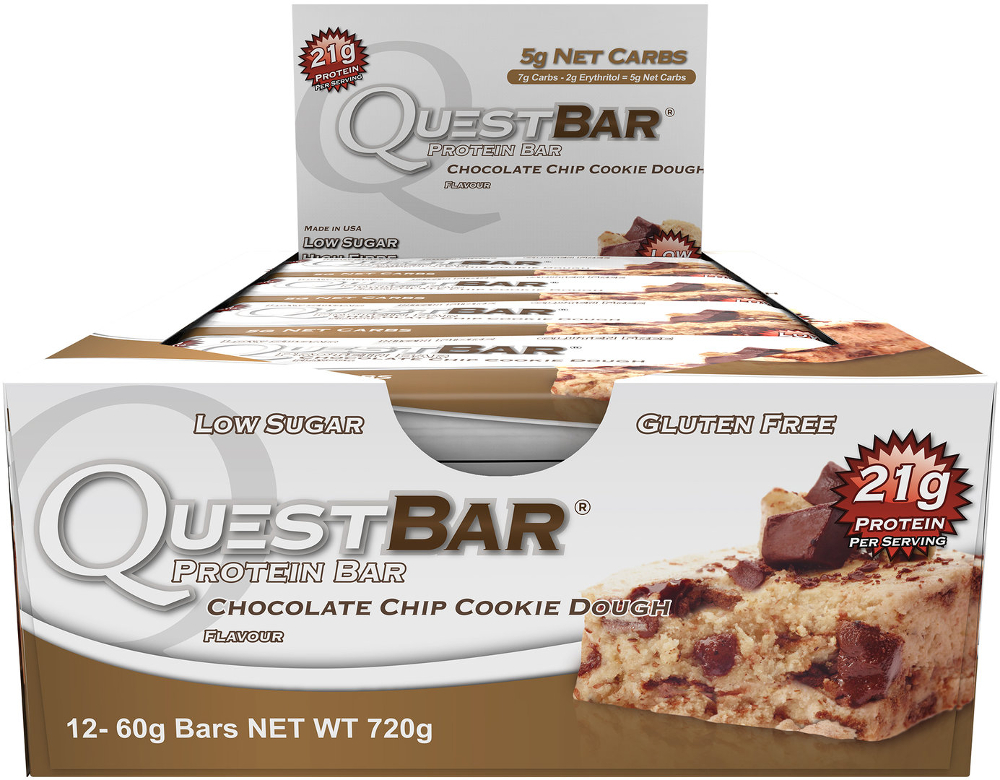 Quest Nutrition Quest Bar - Box of 12 Chocolate Chip Cookie Dough
