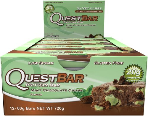 Quest Nutrition Quest Bar - Box of 12 Mint Chocolate Chunk