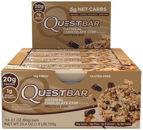 Quest Nutrition Quest Bar - Box of 12 Oatmeal Chocolate Chip