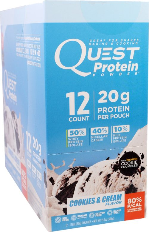 Quest Nutrition Quest Protein Powder - 12 Packets Cookies & Cream