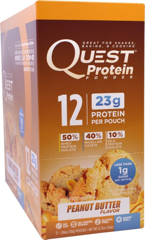 Quest Nutrition Quest Protein Powder - 12 Packets Peanut Butter