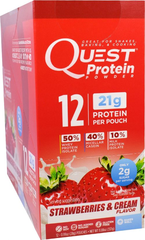 Quest Nutrition Quest Protein Powder - 12 Packets Strawberries & Cream