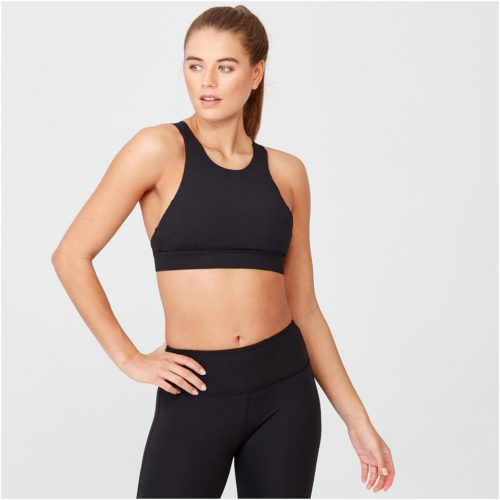 Racer Sports Bra - Black - S