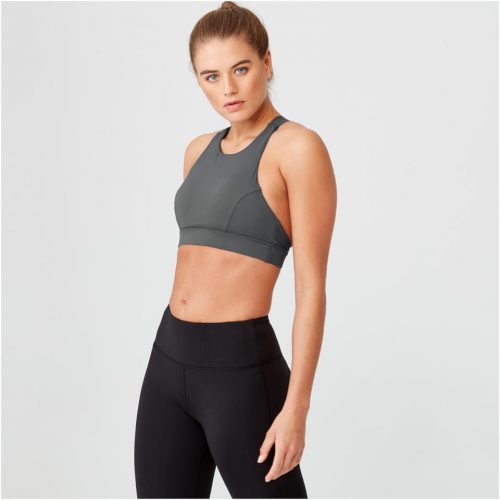 Racer Sports Bra - Charcoal - XL