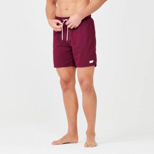 Regular Length Swim Shorts - Burgundy - XS