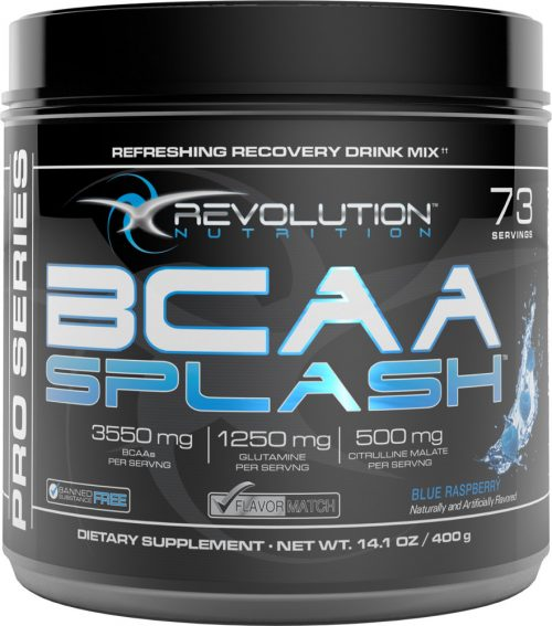 Revolution Nutrition BCAA Splash - 73 Servings Blue Raspberry