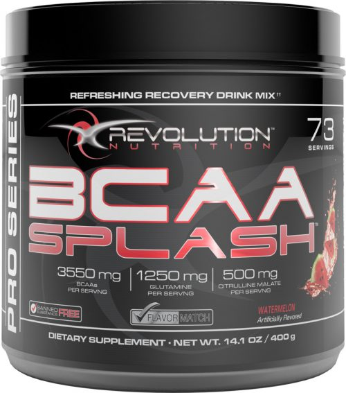Revolution Nutrition BCAA Splash - 73 Servings Watermelon