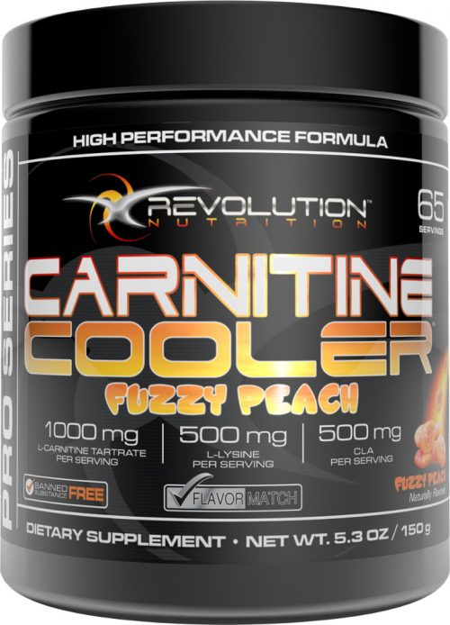 Revolution Nutrition Carnitine Cooler - 65 Servings Fuzzy Peach