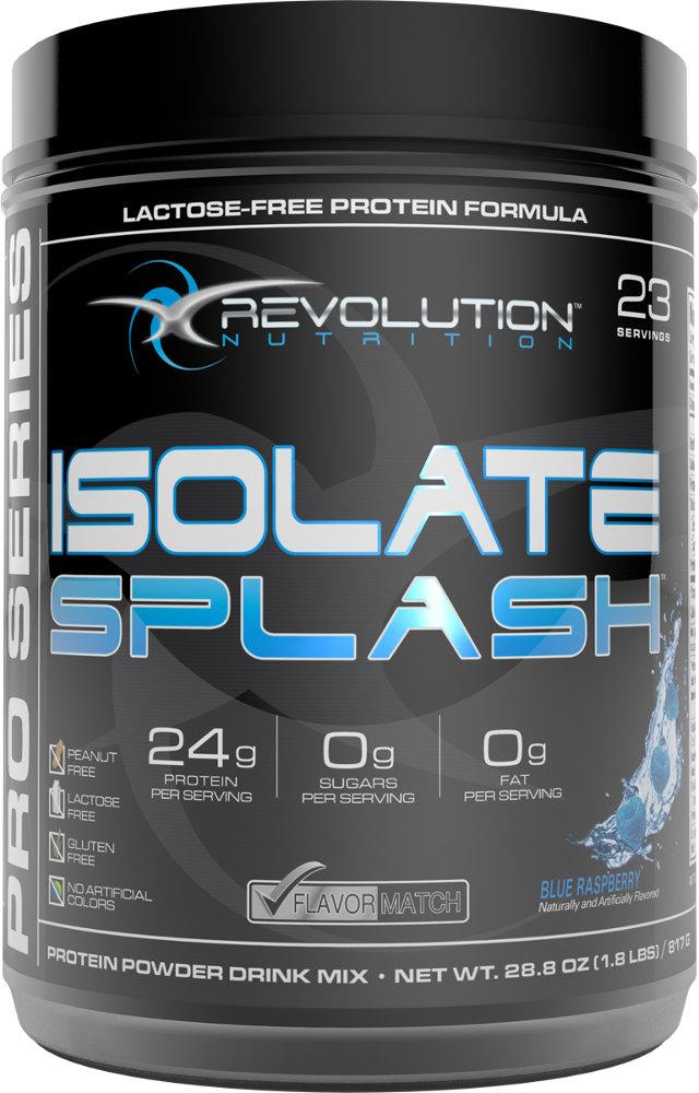 Revolution Nutrition Isolate Splash - 23 Servings Blue Raspberry