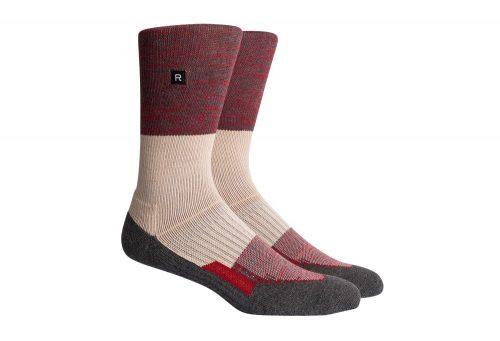 Richer Poorer Statik Athletic Socks - charcoal/red, one size