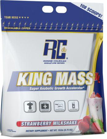 Ronnie Coleman Signature Series King Mass XL - 15lbs Strawberry Milksh