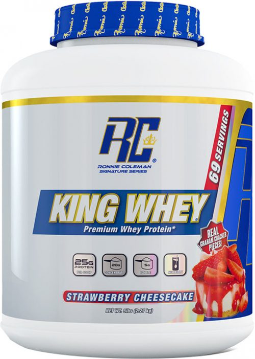 Ronnie Coleman Signature Series King Whey - 5lbs Strawberry Cheesecake