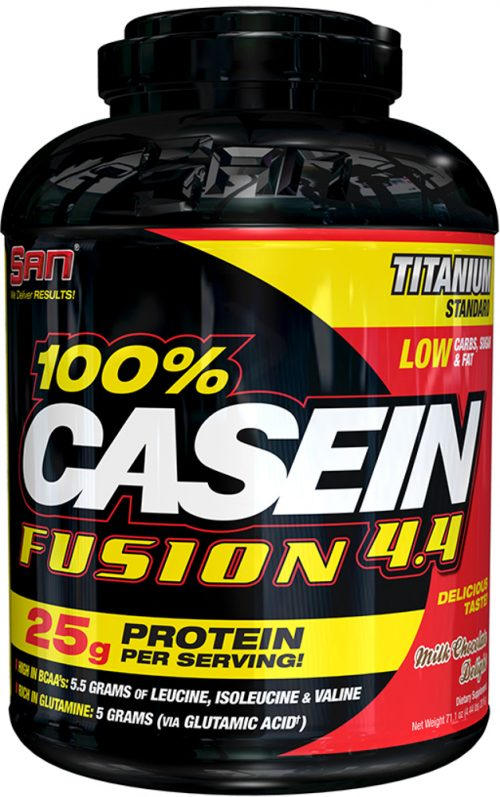 SAN 100% Casein Fusion - 4.4lbs Milk Chocolate Delight