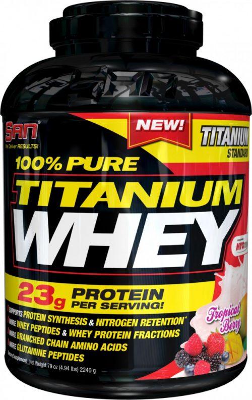 SAN 100% Pure Titanium Whey - 5lbs Tropical Berry