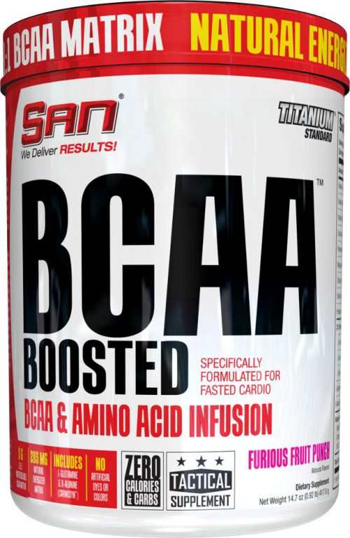 SAN BCAA Boosted - 40 Servings Furious Fruit Punch
