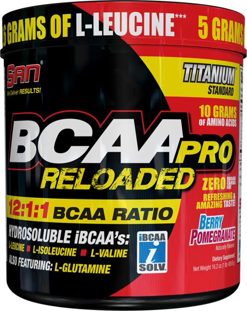 SAN BCAA Pro Reloaded - 40 Servings Berry Pomegranate - Exp. 6/17