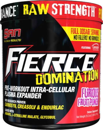 SAN Fierce Domination - 30 Servings Furious Fruit Punch