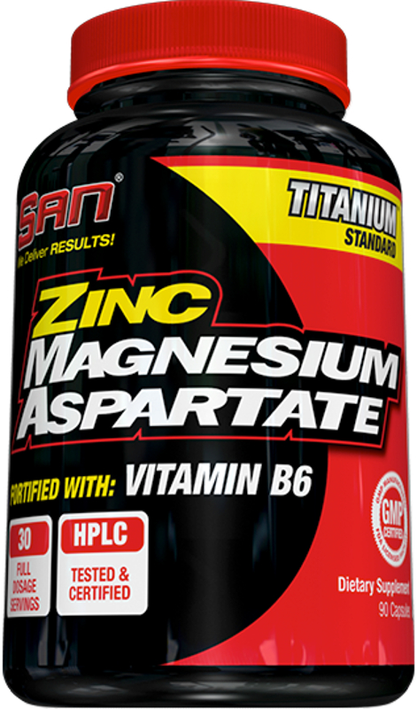 SAN Zinc Magnesium Aspartate - 90 Capsules