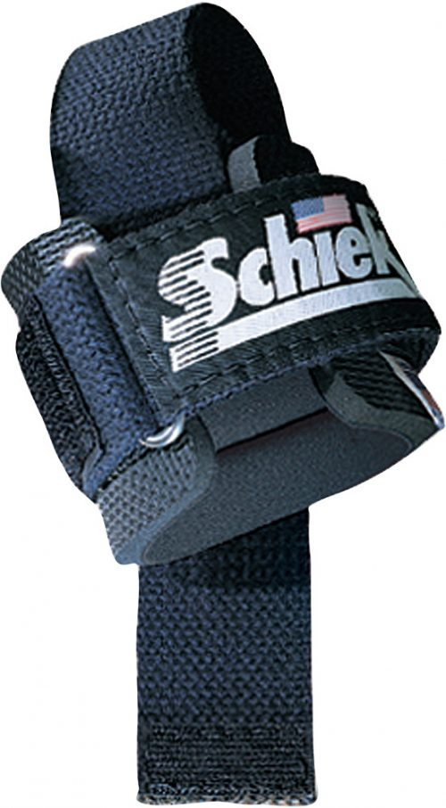 Schiek Sports Model 1000PLS Power Lifting Straps - One Size Red