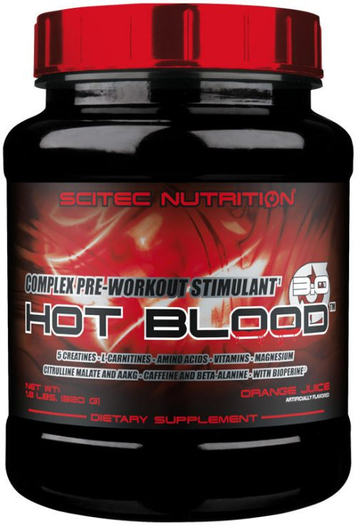 Scitec Nutrition Hot Blood - 41 Servings Orange Juice