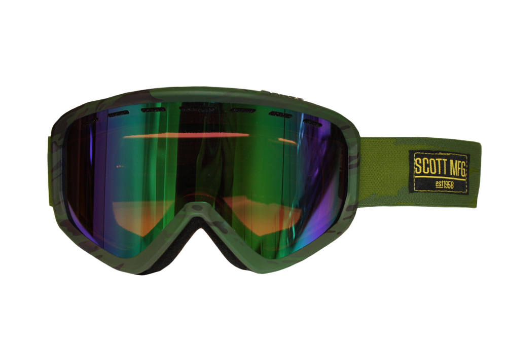 Scott Level Goggle - camo green - green chrome, adjustable