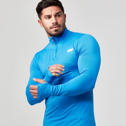 Seamless 1/4 Zip Top - Dark Blue - L