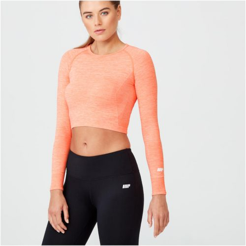 Shape Seamless Crop Top - Light Coral Marl - XS