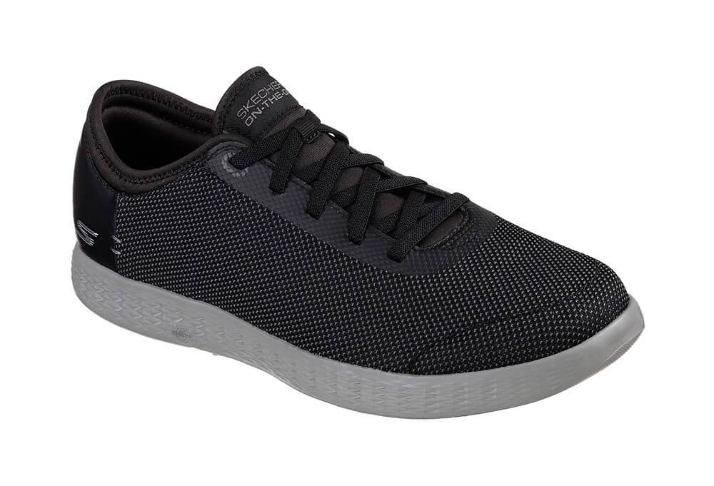 Skechers 2 Tone Mesh Shoes - Men's - black/grey, 11