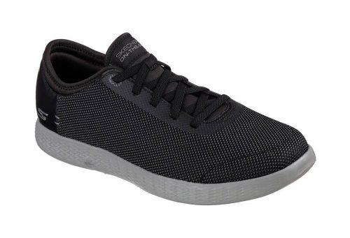 Skechers 2 Tone Mesh Shoes - Men's - black/grey, 8.5