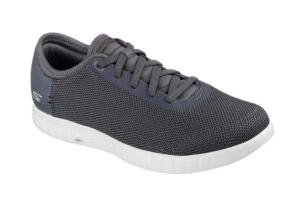 Skechers 2 Tone Mesh Shoes - Men's - charcoal, 10