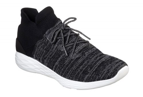 Skechers Go Strike Knit Shoes - Men's - black/white, 11.5