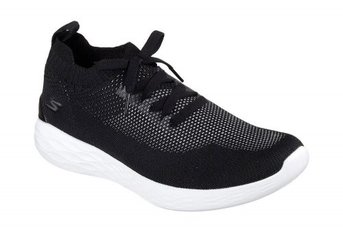 Skechers Knitted Slip Ons - Men's - black/white, 10.5