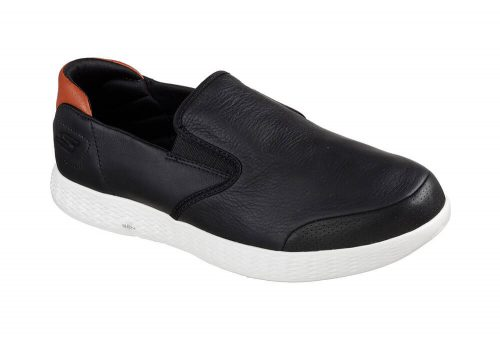 Skechers Leather Slip Ons - Men's - black, 10