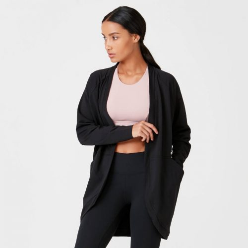Superlite Cardigan - Black - XS