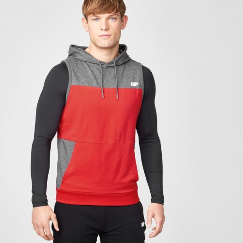 Superlite Sleeveless Zip-Up Hoodie - Red - M