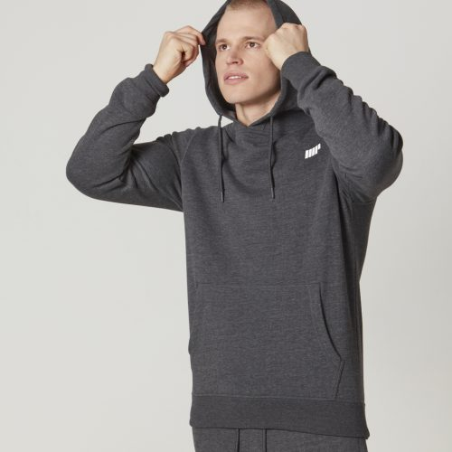 Tru-Fit Pullover Hoodie - Charcoal Marl - XS