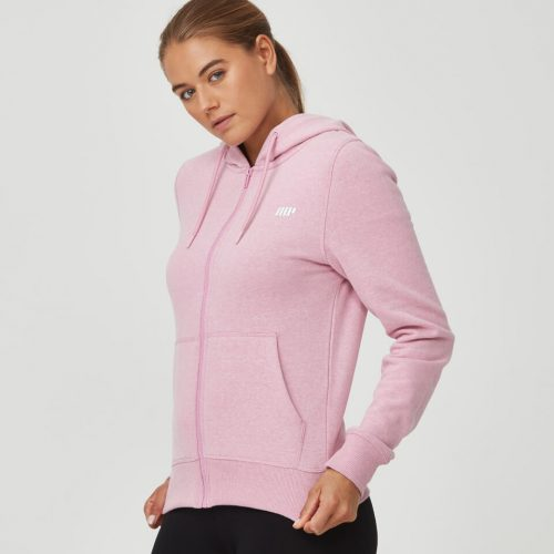Tru-Fit Zip Up Hoodie - Pink Haze Marl - L