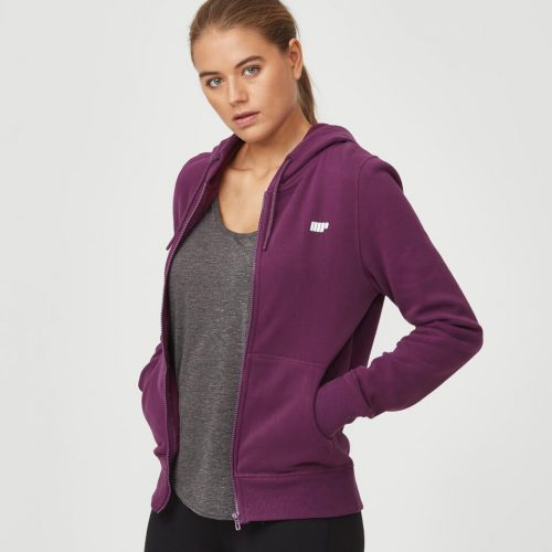 Tru-Fit Zip Up Hoodie - Plum - XL