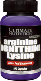 Ultimate Nutrition Arginine Ornithine Lysine - 100 Capsules